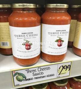 Traderjoes チーズの入った美味しいトマトソース