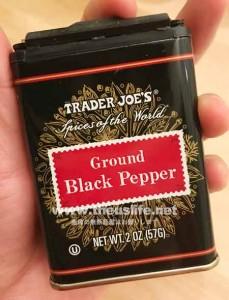 traderjoes グラウンドブラックペッパー