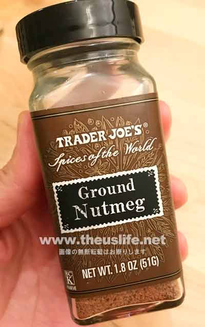 trader joes グラウンドナツメグ