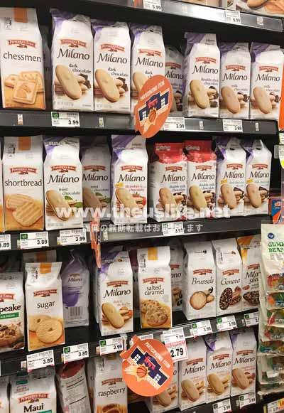 アメリカのスーパーに並ぶMilanoチョコレートクッキー