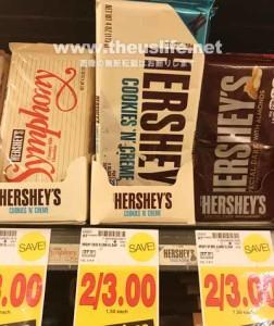 アメリカのチョコレート定番のハーシーズ板チョコ