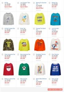 Crazy8 男の子用の子供服ウェブサイトキャプチャー画面