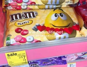 バレンタイン限定のm&m'sチョコレート