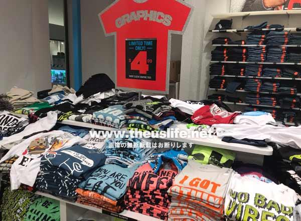 The Children's Place(ザ・チルドレンズプレイス)子供用のTシャツ売り場