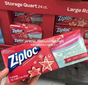 アメリカ限定品のジップロッククリスマスデザインバッグ