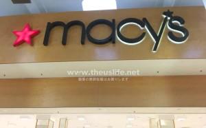 アメリカのデパート Macy's(メイシーズ)店舗入口