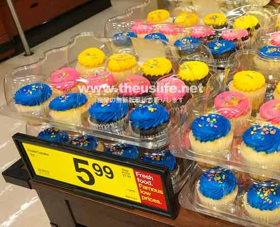 アメリカのカラフル過ぎるカップケーキ