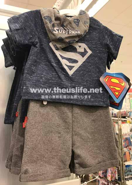 ターゲットの新生児用のアメコミベビー服