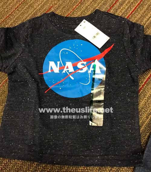 ターゲットで見付けたNASAのTシャツ