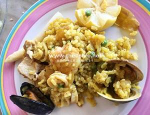 コロンビアレストランのおすすめ料理 パエリア