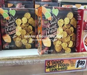 Traderjoes 3seed sweetpoteto cracker パッケージ
