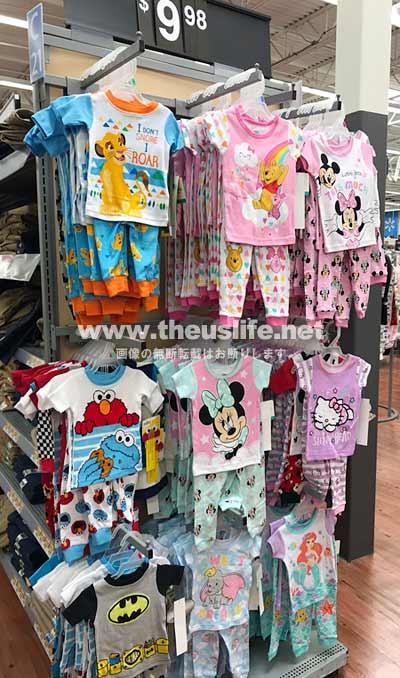 Walmart(ウォルマート)の子ども用パジャマ