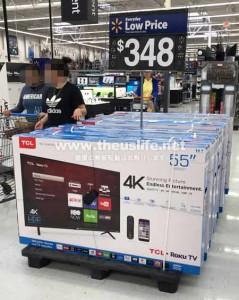 Walmart(ウォルマート)激安4Kテレビ55インチ