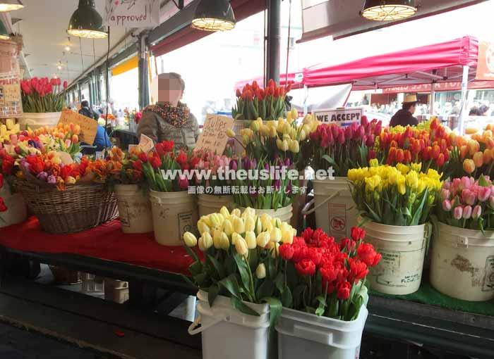 パイクプレイスマーケットの花屋さん