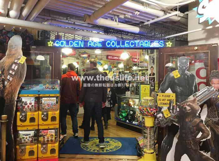 パイクプレイスマーケット内にあるアメコミショップ Golden Age Collectables