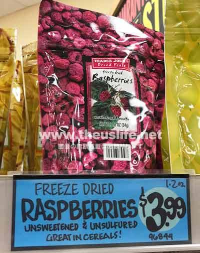 traderjoes dried fruits Raspberries