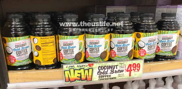 traderjoes coconut coldbrew coffee