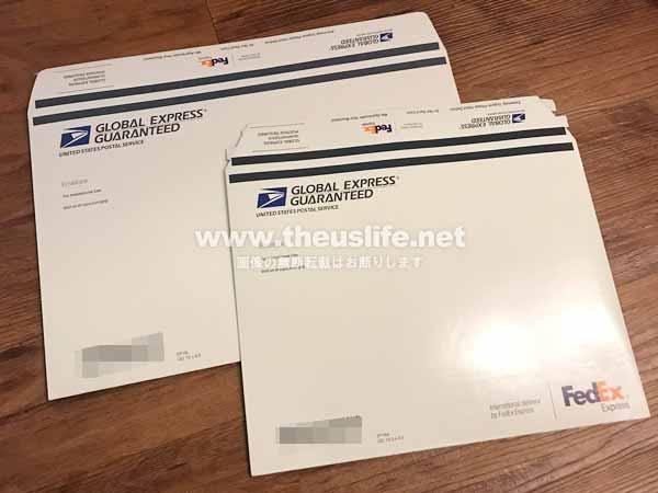アメリカ版EMSのGXGの専用封筒