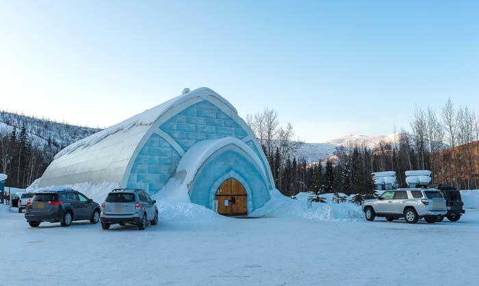 チェナ温泉付近の氷の博物館