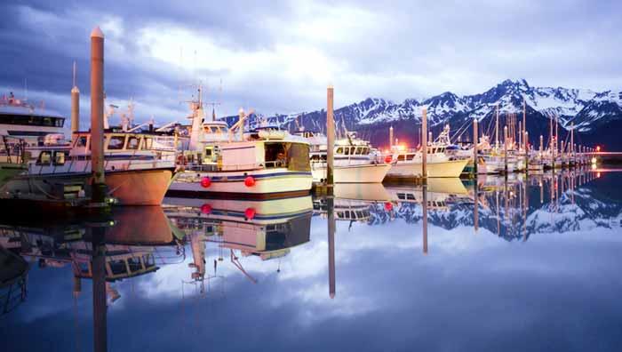 アラスカ スワード港