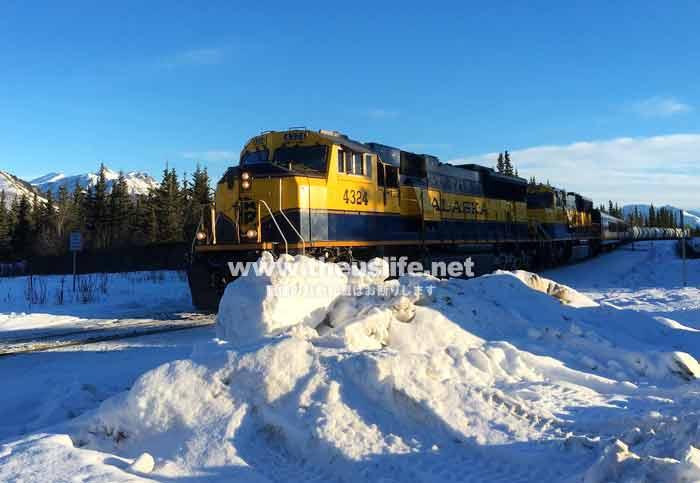 アラスカ鉄道 冬の風景