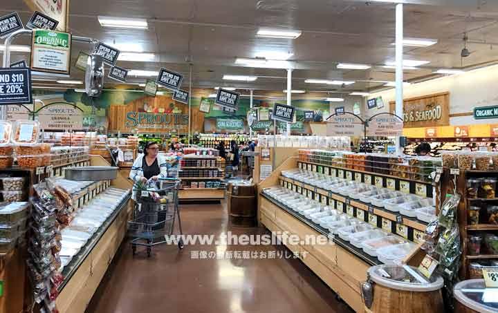 アメリカのスーパー Sprouts スプラウト店内