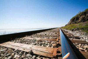 アラスカ鉄道の線路