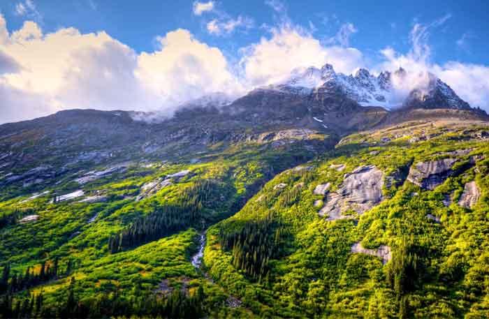 アラスカの自然風景