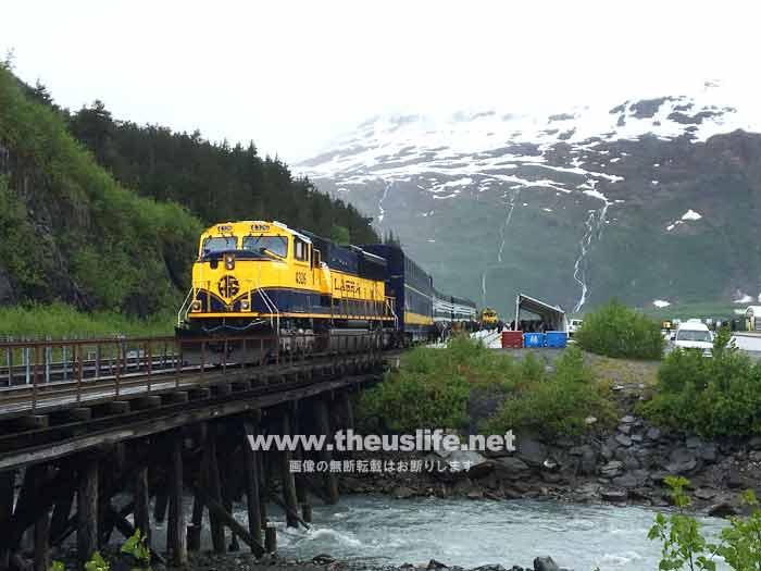 アラスカ鉄道 曇りの日