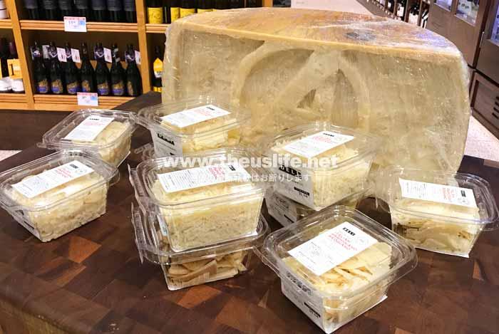Publix(パグリックス)店内の高級チーズ