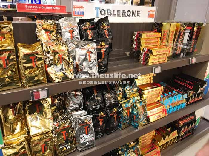Toblerone(トブラローネ)サンフランシスコ空港内の売り場
