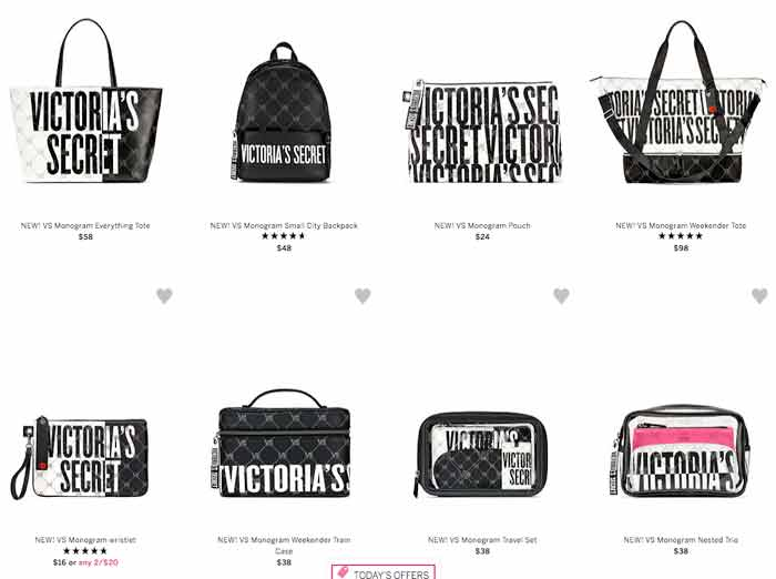 Victorias secret tote and cosme bags