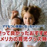 アメリカのおすすめ育児グッズ