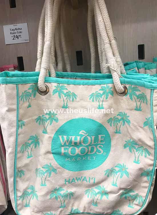 Wholefoods Hawaii ヤシの木柄のエコバッグ