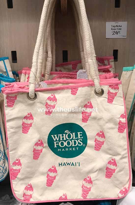 Wholefoods Hawaii アイスクリーム柄のエコバッグ