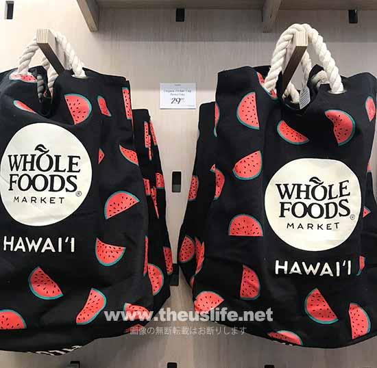 Wholefoods Hawaii スイカ柄のエコバッグ
