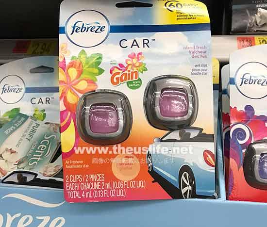 ファブリーズ 車の芳香剤